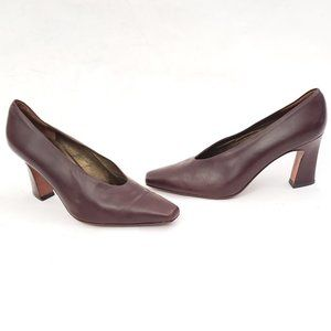 Via Spiga Sleek Leather Heels - Size 7.5 B